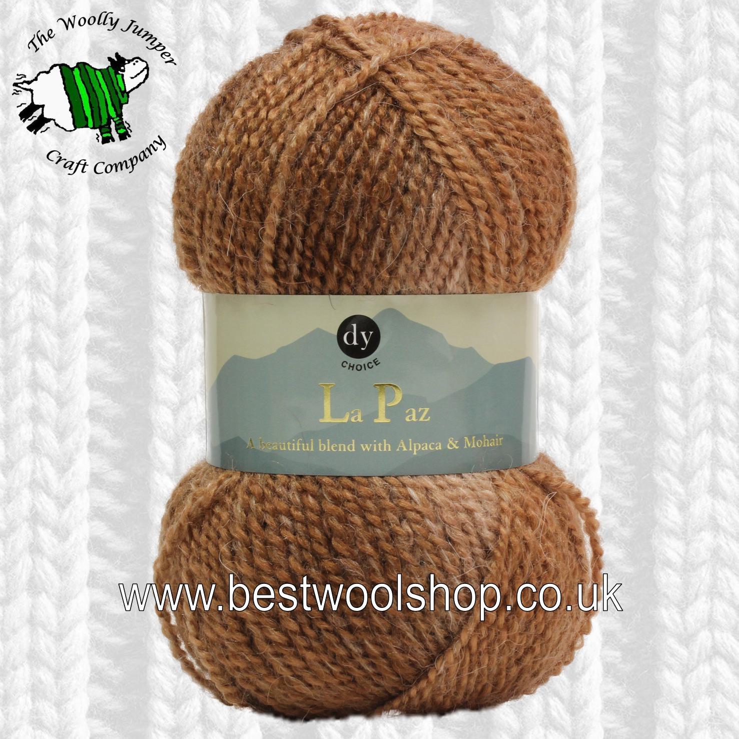 Alpaca Aran Knitting Pattern : 3 - COCOA - DY CHOICE LA PAZ ARAN SELF PATTERNING KNITTING ...