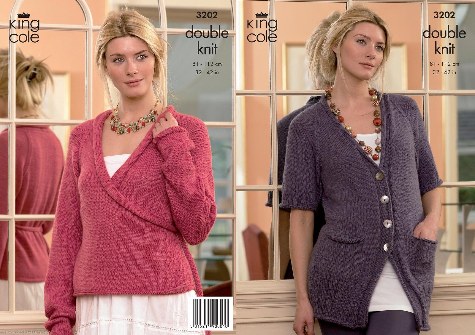 3202 - KING COLE BABY ALPACA DK CARDIGAN KNITTING PATTERN ...